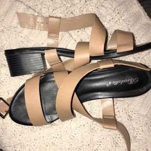 Sandals with a heel